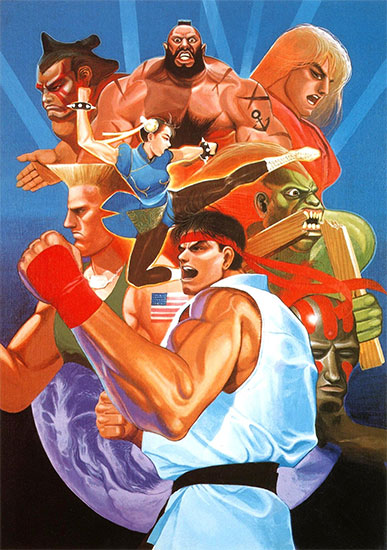 Portada de Street Fighter II